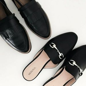Shoes - Bnwt Size 9.5 Faux Leather Loafers